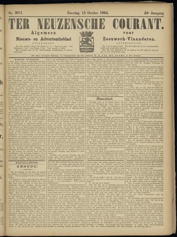 Ter Neuzensche Courant. Algemeen Nieuws- en Advertentieblad voor Zeeuwsch-Vlaanderen / Neuzensche Courant ... (idem) / (Algemeen) nieuws en advertentieblad voor Zeeuwsch-Vlaanderen 1894-10-13