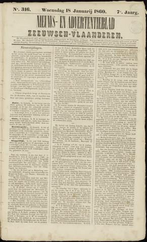 Ter Neuzensche Courant. Algemeen Nieuws- en Advertentieblad voor Zeeuwsch-Vlaanderen / Neuzensche Courant ... (idem) / (Algemeen) nieuws en advertentieblad voor Zeeuwsch-Vlaanderen 1860-01-18