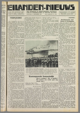 Eilanden-nieuws. Christelijk streekblad op gereformeerde grondslag 1949-09-14