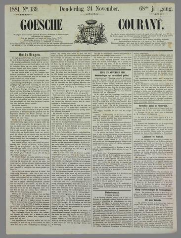 Goessche Courant 1881-11-24