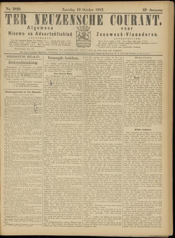 Ter Neuzensche Courant. Algemeen Nieuws- en Advertentieblad voor Zeeuwsch-Vlaanderen / Neuzensche Courant ... (idem) / (Algemeen) nieuws en advertentieblad voor Zeeuwsch-Vlaanderen 1912-10-19