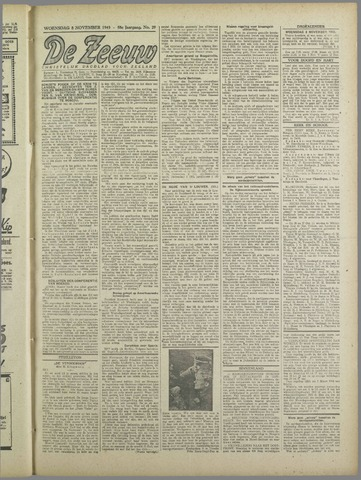 De Zeeuw. Christelijk-historisch nieuwsblad voor Zeeland 1943-11-03