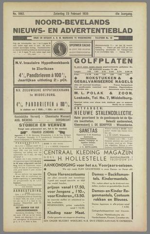 Noord-Bevelands Nieuws- en advertentieblad 1935-02-23