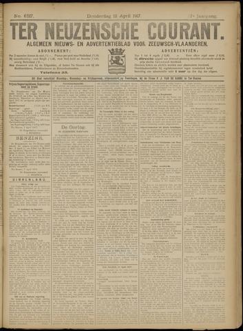 Ter Neuzensche Courant. Algemeen Nieuws- en Advertentieblad voor Zeeuwsch-Vlaanderen / Neuzensche Courant ... (idem) / (Algemeen) nieuws en advertentieblad voor Zeeuwsch-Vlaanderen 1917-04-12
