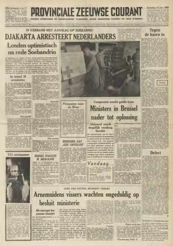 Provinciale Zeeuwse Courant 1962-01-13