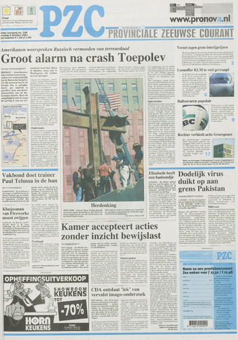 Provinciale Zeeuwse Courant 2001-10-05