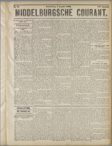 Middelburgsche Courant 1922-04-01