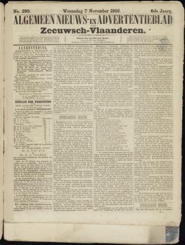 Ter Neuzensche Courant. Algemeen Nieuws- en Advertentieblad voor Zeeuwsch-Vlaanderen / Neuzensche Courant ... (idem) / (Algemeen) nieuws en advertentieblad voor Zeeuwsch-Vlaanderen 1866-11-07