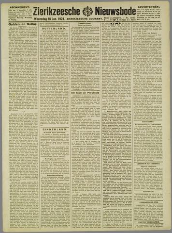 Zierikzeesche Nieuwsbode 1924-01-16