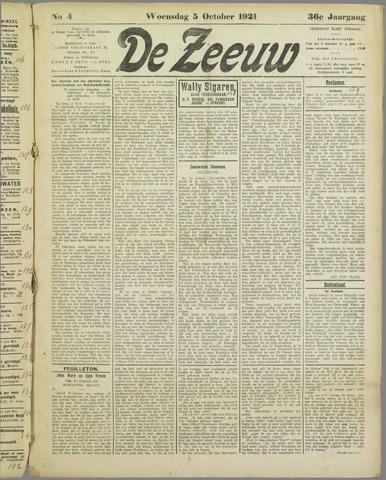 De Zeeuw. Christelijk-historisch nieuwsblad voor Zeeland 1921-10-05