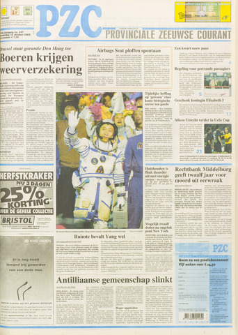 Provinciale Zeeuwse Courant 2003-10-16