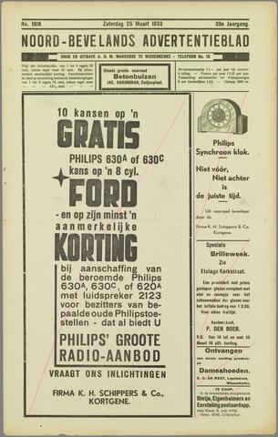 Noord-Bevelands Nieuws- en advertentieblad 1933-03-25