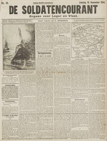 De Soldatencourant. Orgaan voor Leger en Vloot 1914-11-15