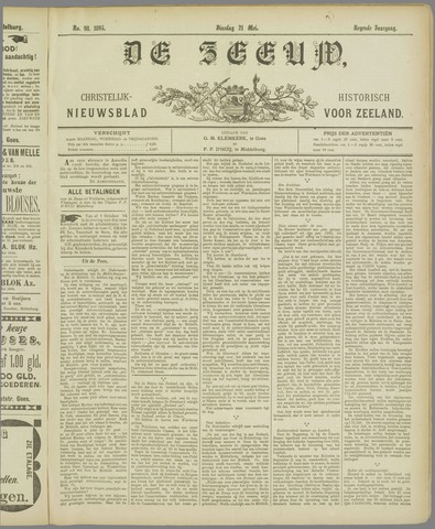 De Zeeuw. Christelijk-historisch nieuwsblad voor Zeeland 1895-05-21