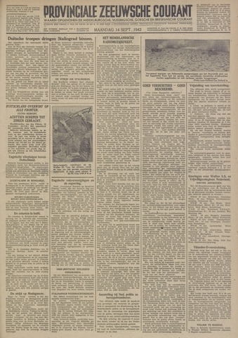 Provinciale Zeeuwse Courant 1942-09-14