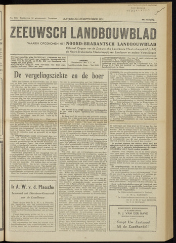 Zeeuwsch landbouwblad ... ZLM land- en tuinbouwblad 1952-09-27