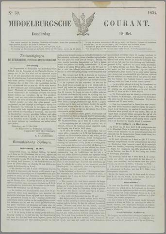 Middelburgsche Courant 1854-05-18
