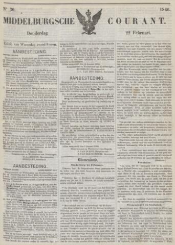 Middelburgsche Courant 1866-02-22
