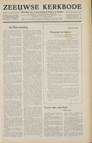 Zeeuwsche kerkbode, weekblad gewijd aan de belangen der gereformeerde kerken/ Zeeuwsch kerkblad 1958-10-31