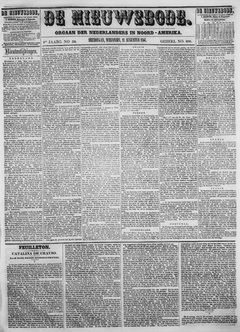 Sheboygan Nieuwsbode 1857-08-11