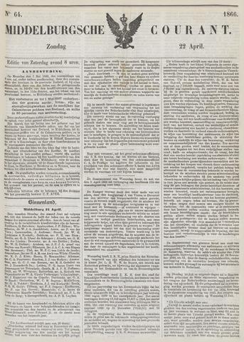 Middelburgsche Courant 1866-04-22