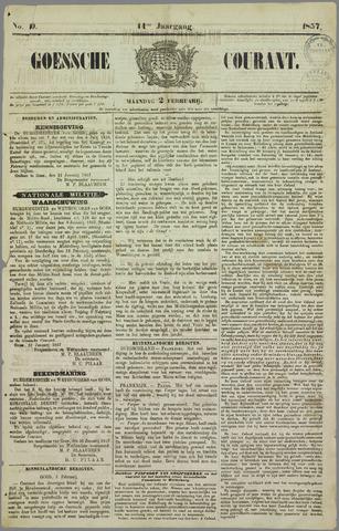 Goessche Courant 1857-02-02