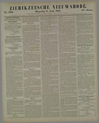 Zierikzeesche Nieuwsbode 1885-07-14