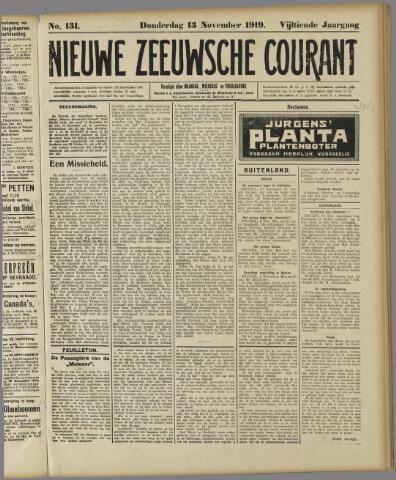 Nieuwe Zeeuwsche Courant 1919-11-13