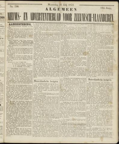Ter Neuzensche Courant. Algemeen Nieuws- en Advertentieblad voor Zeeuwsch-Vlaanderen / Neuzensche Courant ... (idem) / (Algemeen) nieuws en advertentieblad voor Zeeuwsch-Vlaanderen 1872-07-31