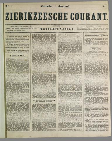 Zierikzeesche Courant 1870