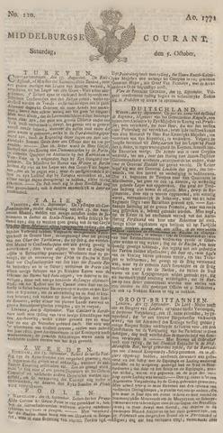 Middelburgsche Courant 1771-10-05