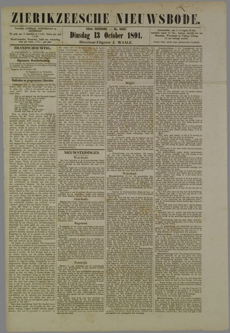 Zierikzeesche Nieuwsbode 1891-10-13