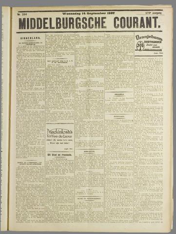 Middelburgsche Courant 1927-09-14