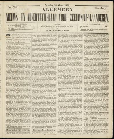 Ter Neuzensche Courant. Algemeen Nieuws- en Advertentieblad voor Zeeuwsch-Vlaanderen / Neuzensche Courant ... (idem) / (Algemeen) nieuws en advertentieblad voor Zeeuwsch-Vlaanderen 1870-03-26