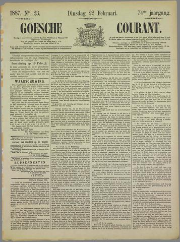 Goessche Courant 1887-02-22