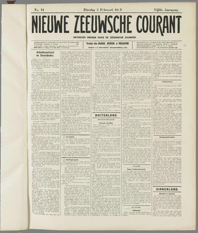 Nieuwe Zeeuwsche Courant 1909-02-02