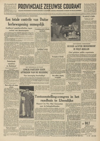 Provinciale Zeeuwse Courant 1954-09-23