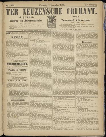 Ter Neuzensche Courant. Algemeen Nieuws- en Advertentieblad voor Zeeuwsch-Vlaanderen / Neuzensche Courant ... (idem) / (Algemeen) nieuws en advertentieblad voor Zeeuwsch-Vlaanderen 1883-11-07