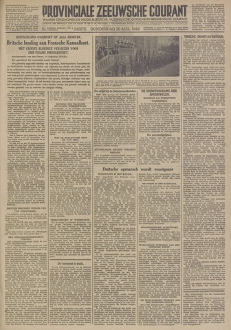 Provinciale Zeeuwse Courant 1942-08-20
