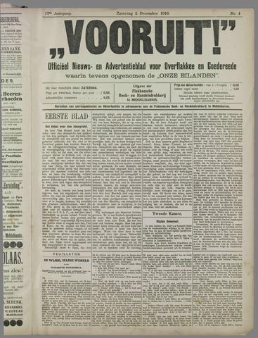 """""""Vooruit!""""Officieel Nieuws- en Advertentieblad voor Overflakkee en Goedereede 1916-12-02"""