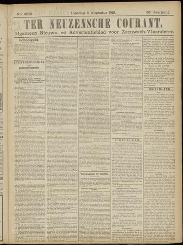 Ter Neuzensche Courant. Algemeen Nieuws- en Advertentieblad voor Zeeuwsch-Vlaanderen / Neuzensche Courant ... (idem) / (Algemeen) nieuws en advertentieblad voor Zeeuwsch-Vlaanderen 1919-08-05