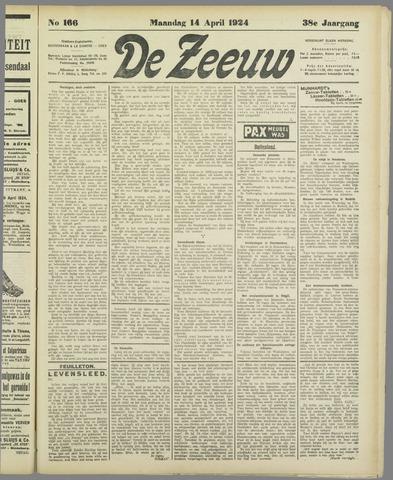 De Zeeuw. Christelijk-historisch nieuwsblad voor Zeeland 1924-04-14