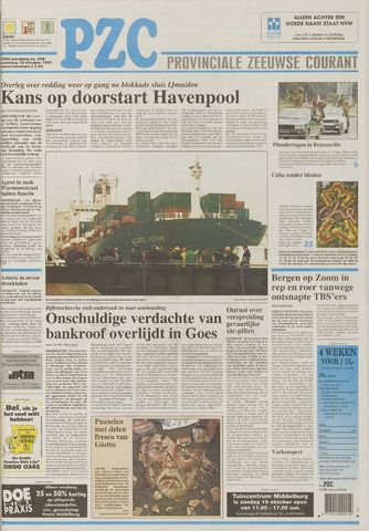 Provinciale Zeeuwse Courant 1997-10-18