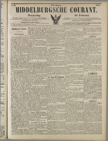 Middelburgsche Courant 1903-02-26