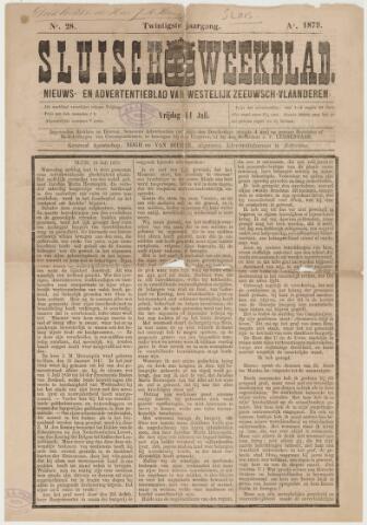 Sluisch Weekblad. Nieuws- en advertentieblad voor Westelijk Zeeuwsch-Vlaanderen 1879-07-11