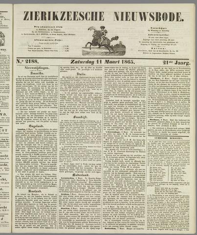 Zierikzeesche Nieuwsbode 1865-03-11