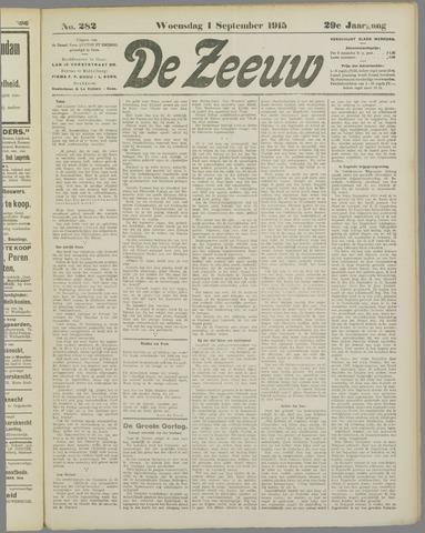 De Zeeuw. Christelijk-historisch nieuwsblad voor Zeeland 1915-09-01
