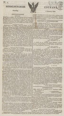 Middelburgsche Courant 1829-01-03