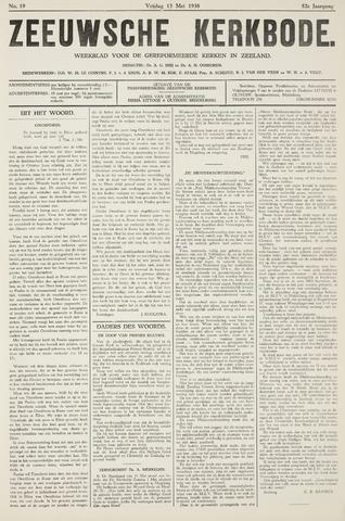 Zeeuwsche kerkbode, weekblad gewijd aan de belangen der gereformeerde kerken/ Zeeuwsch kerkblad 1938-05-13