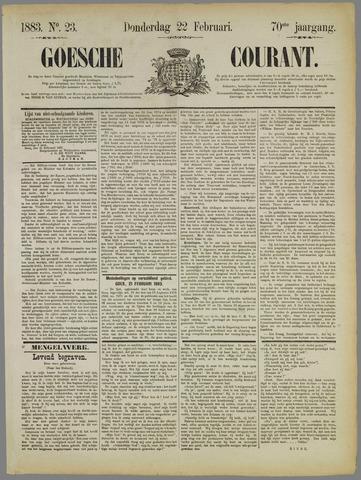 Goessche Courant 1883-02-22